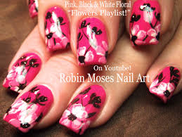black pink sponged nail art tutorial youtube silver pink and