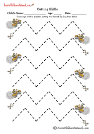 16 printable cutting sheets including straight lines zig zag