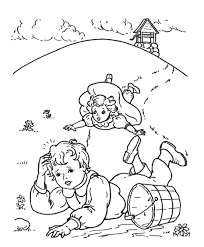 free printable nursery rhymes coloring pages jack and jill