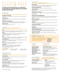 try our new gluten free menu not your average joe u0027s