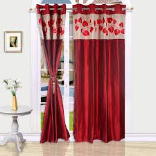 eyda polyester red floral eyelet door curtain buy eyda polyester