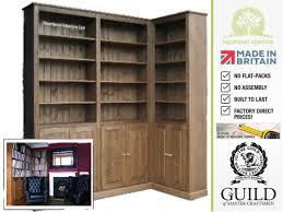 heritage oak bookcase with doors in dark oak winners only home