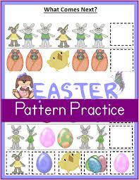 printable easter worksheets patterns what comes next u2013 3 boys