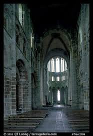 Mont Saint Michel Interior Picture Photo Austere Chapel Inside The Benedictine Abbey Mont
