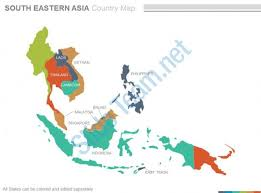 maps of south eastern asia region continent countries in
