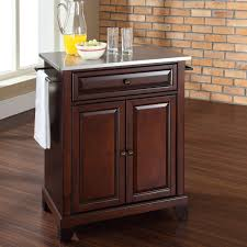 Crosley Kitchen Islands Kitchen Cart With Stainless Steel Top U2013 Laptoptablets Us