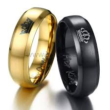can titanium rings be engraved outside personalized king and crown titanium rings for 2
