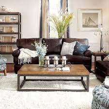 Living Room Ideas With Leather Sofa Hadley 89 Leather Sofa In Napa Valley Chocolate Coffee Lights