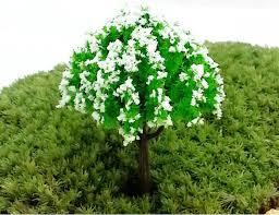 colorful artificial mini trees miniatures plants garden