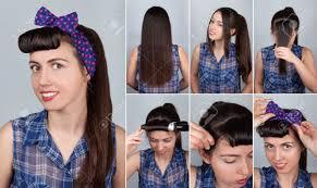 Einfache Frisuren Lange Haare Mit Pony by Einfache Schwanz Tutorial Frisur Pony Für Die Frau Frisur Für