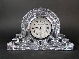 Mantle Piece Clock Waterford Crystal Quartz Small Mantel Clock Paperweight Small