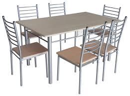 table de cuisine chaise table de cuisine et 6 chaises sylviane soldes cuisine promos