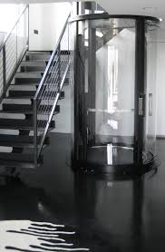 visilift round glass elevator a beautiful addition to a modern