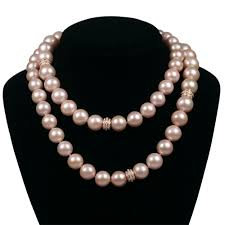 large pearl necklace images Large pink pearl necklace house of kahn estate jewelers jpg