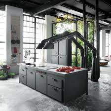 designer dunstabzugshauben unique kitchen design brings industrial style into