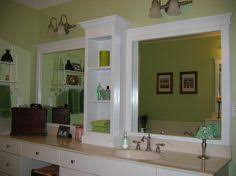 Bathroom Mirror With Storage by Framing Bathroom Mirrors A Great Tutorial With Step By Step