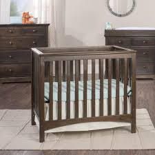 Oak Convertible Crib Nursery Decors Furnitures Upholstered Baby Crib As Well As
