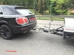 lexus nx300h towing 2016 bentley bentayga prototype caught towing a trailer spied