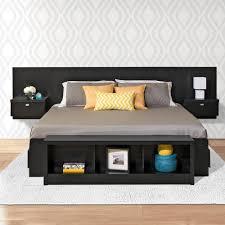 Black King Bedroom Furniture Prepac Series 9 1 Piece Black King Bedroom Set Bhhk 0520 2k The