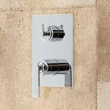 calhoun shower system with rainfall shower head hand shower handles chrome