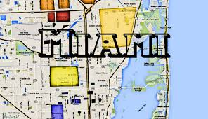 Little Havana Miami Map by Miami Hoods Map Of Dade County Florida