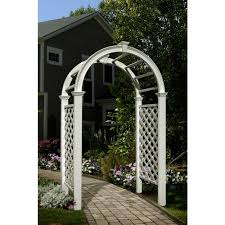 wedding arches home depot new arbors livingston 91 in x 49 in vinyl arbor va68103