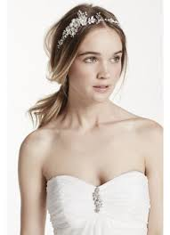 floral headband wire wrapped floral headband david s bridal