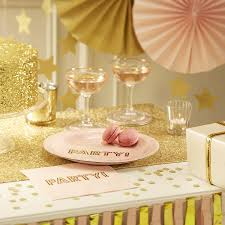 pink and gold cake table decor pastel and gold sparkle cake bunting by ginger ray