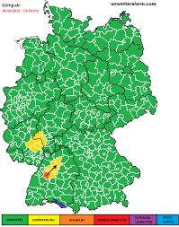 Baden Blitz über Baden Württemberg Sind Erste Blitze Zu Sehen