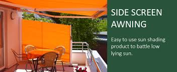 Retractable Awning With Bug Screen Side Opening Retractable Blinds For Screening And Wind Protection
