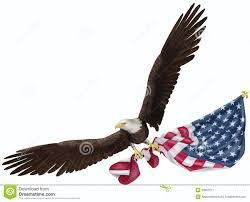 Holding The Flag Eagle Flying Holding Us Flag Stock Illustration Image 53961911