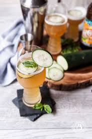 beer cocktail recipe cucumber basil ipa cooler the beeroness