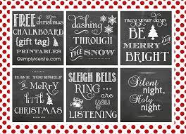 christmas chalkboard gift tag printables christmas chalkboard