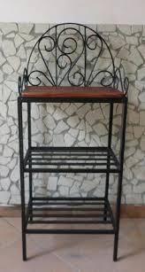 etagere ferro battuto mensola fioriera portaspezie in ferro battuto legno rustica cucina