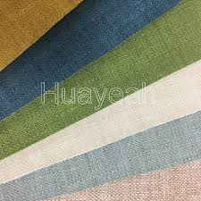 Leather Fabric For Sofa Linen Look Pattern Woven Pvc Synthetic Leather Fabric