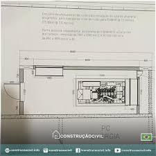 basic construçãocivilcroqui a room to house a diesel generator set