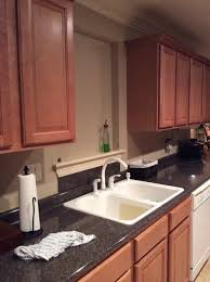 Shelf Above Kitchen Sink by Kitchen Sink With No Window Over It