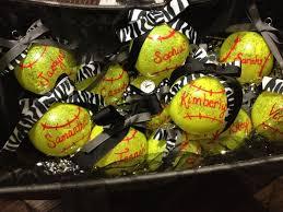 softball ornaments for end of fall season softball