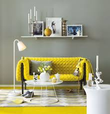 yellow decor ideas yellow sofa decorating idea