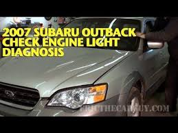 subaru outback check engine light 2007 subaru check engine light diagnosis ericthecarguy youtube