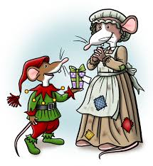 crafty moments a surprise christmas gift mice digi