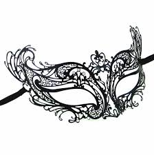 masquarade mask eco black metal masquerade mask vivo masks