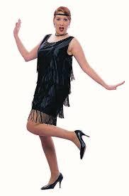 buy fringed flapper short dress plus size costume 86049