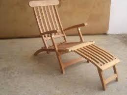 Teak Deck Chairs Teak Steamer Five Position Chair Vertical Slats Bali Outdoor