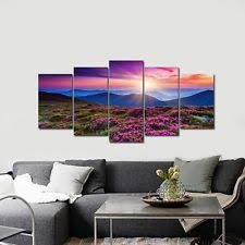 Canvas Home Decor Modern Wall Art Sunset Ocean Waves Pictures Print Canvas Seascape