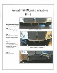 kenworth aftermarket accessories bumpermaker kenworth t680 bumper