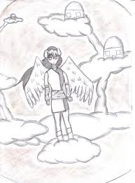 drawn angel heaven pencil and in color drawn angel heaven