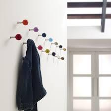 contemporary coat hook oak commercial painted dots davis
