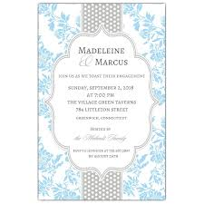 fancy invitations fancy light blue grey dot engagement invitations paperstyle