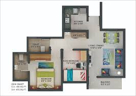 2bhk floor plans floor plans of sector ii a 2bhk flats in chakan dwarka township